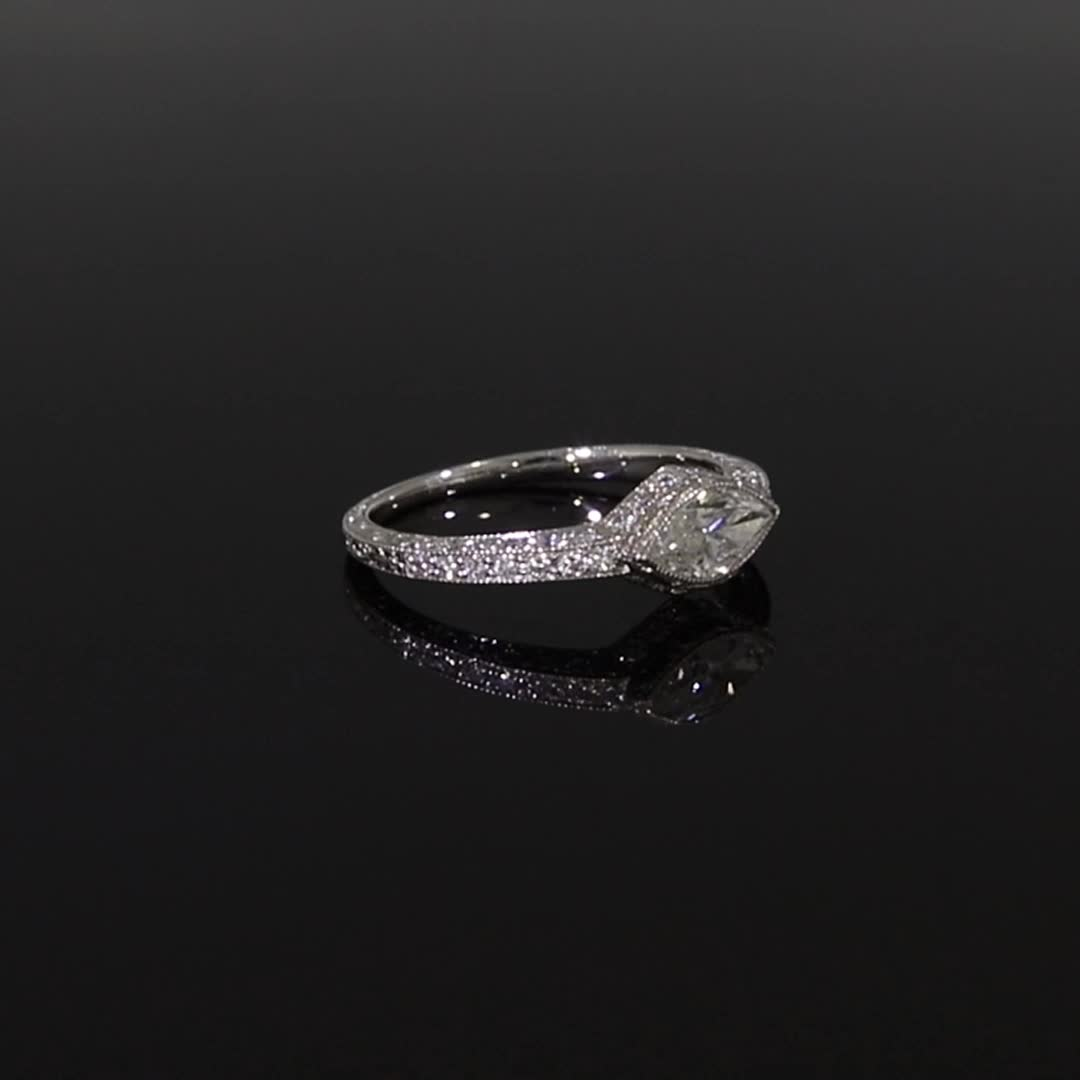 Marquise Diamond Ring<br />  1.50CT in Platinum