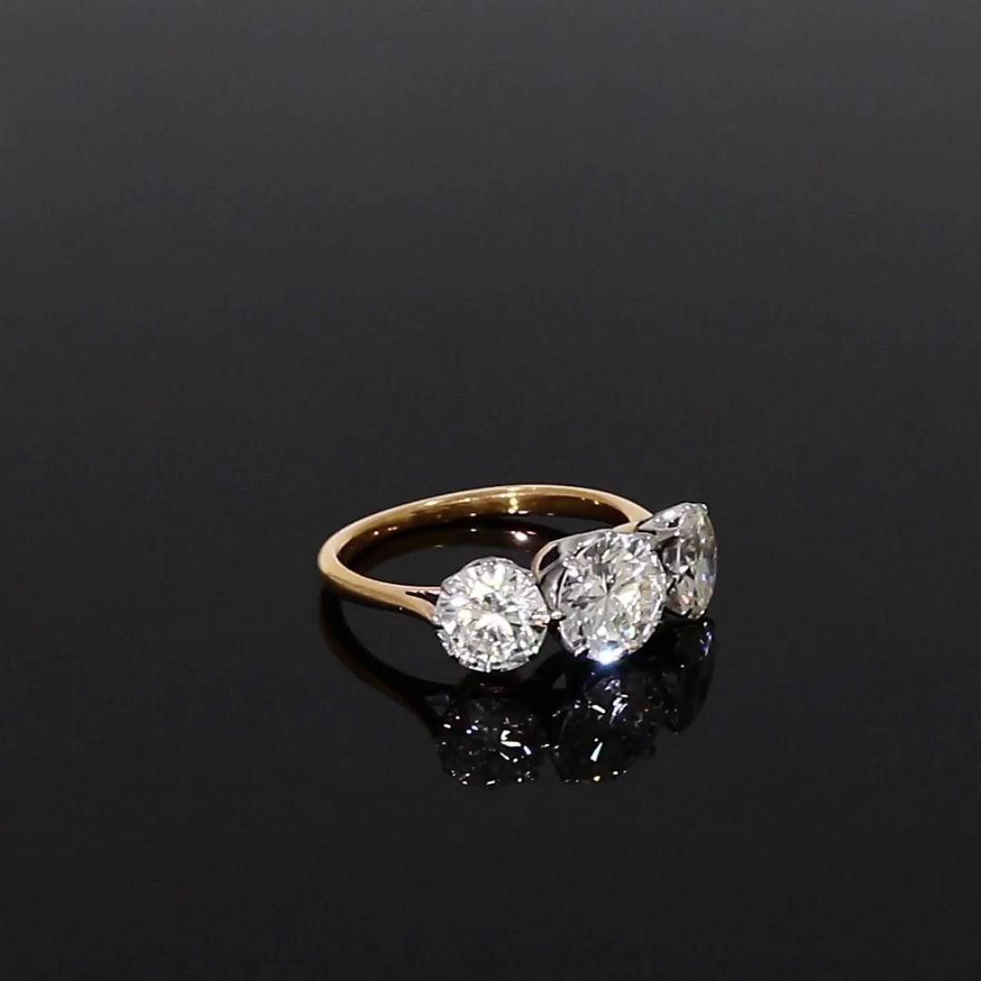 Three Stone Diamond Ring<br /> 3.55CT