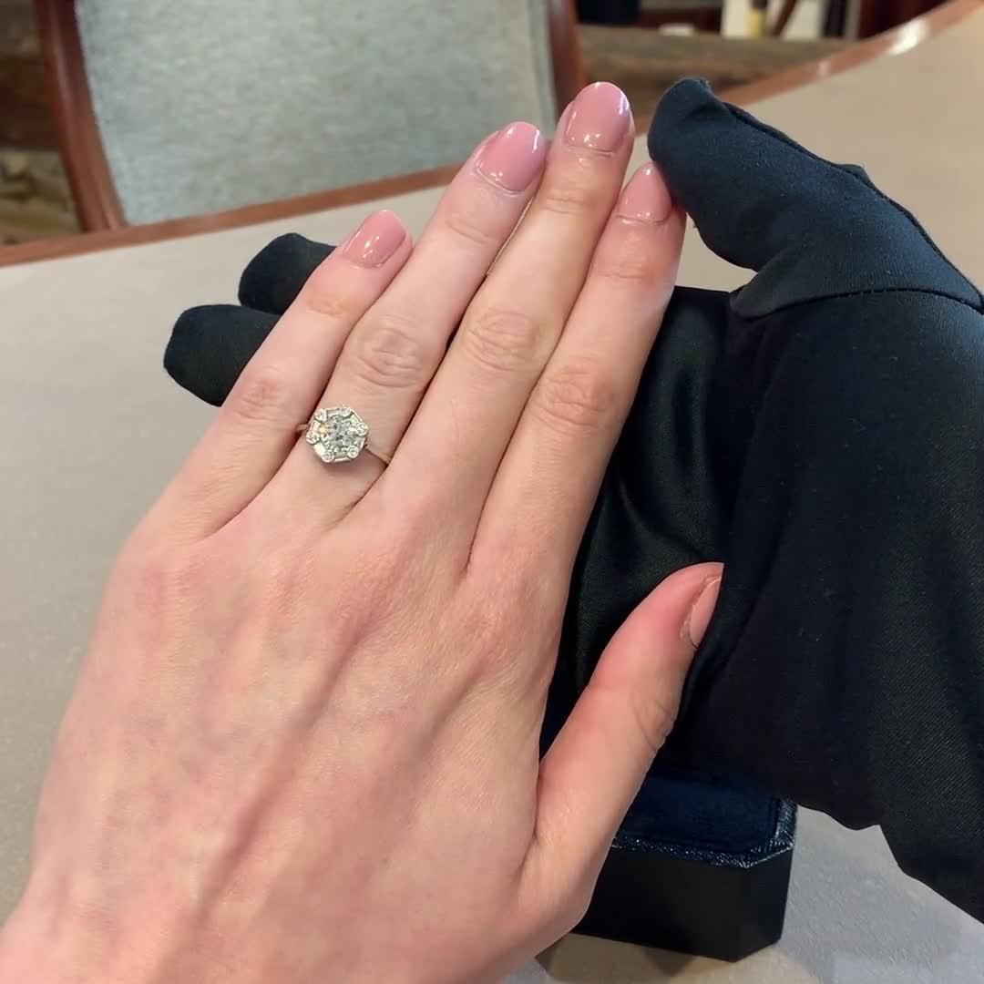 Art Deco Diamond Ring<br /> 1.12CT in Platinum