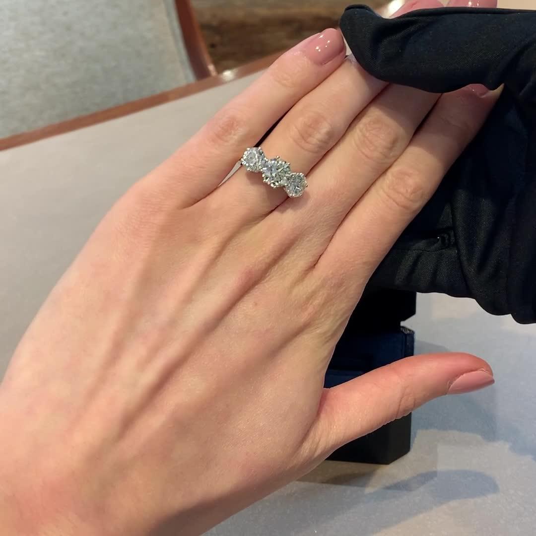 Three Stone Diamond Ring<br /> 5.55CT