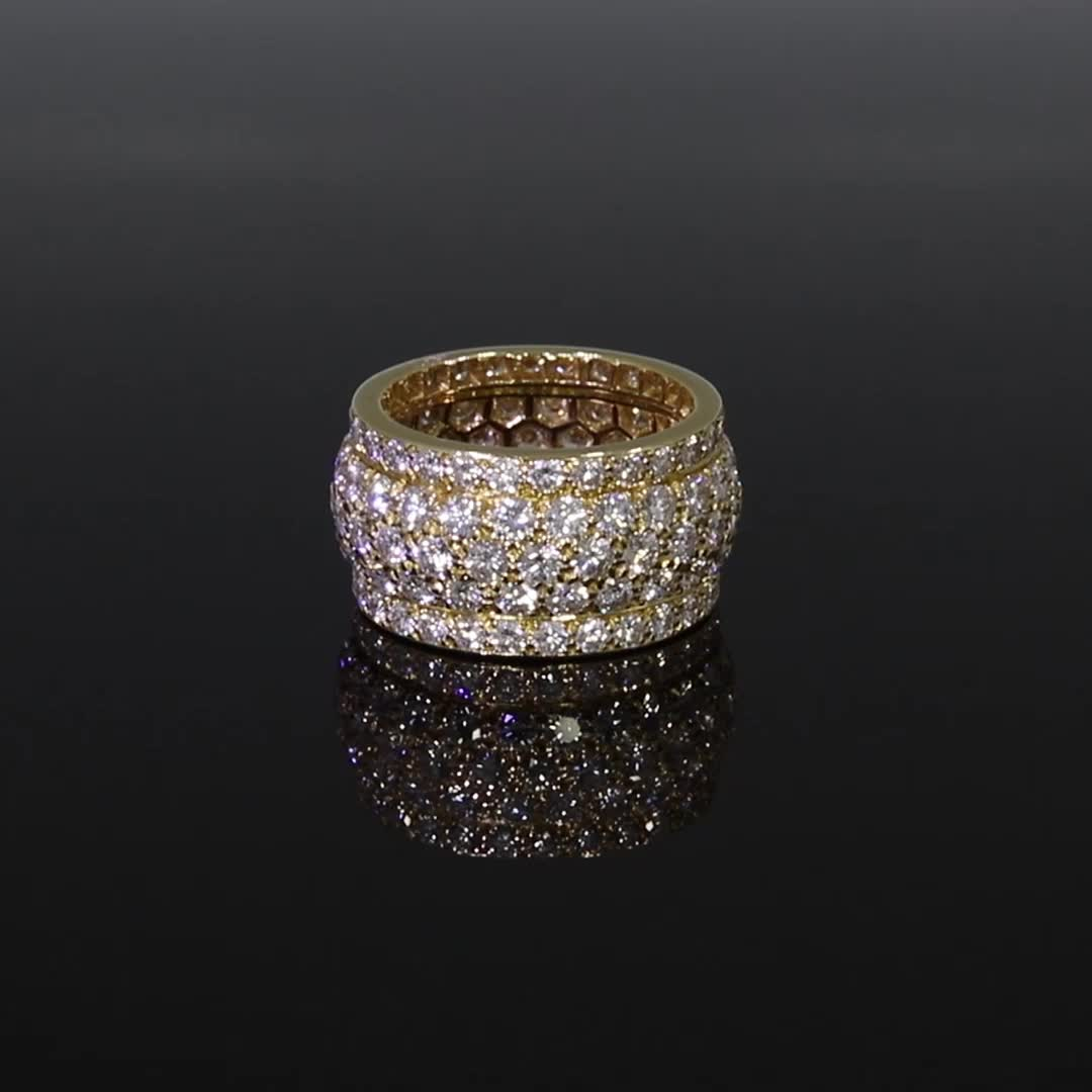 Contemporary Cartier Diamond Ring<br /> 6.00CT in Yellow Gold