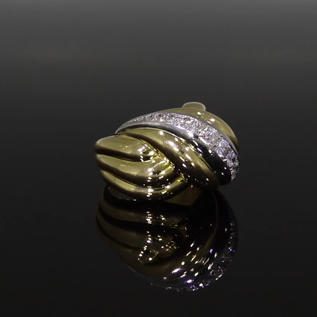 1960s Van Cleef & Arpels Diamond Ring<br /> in Yellow & White Gold