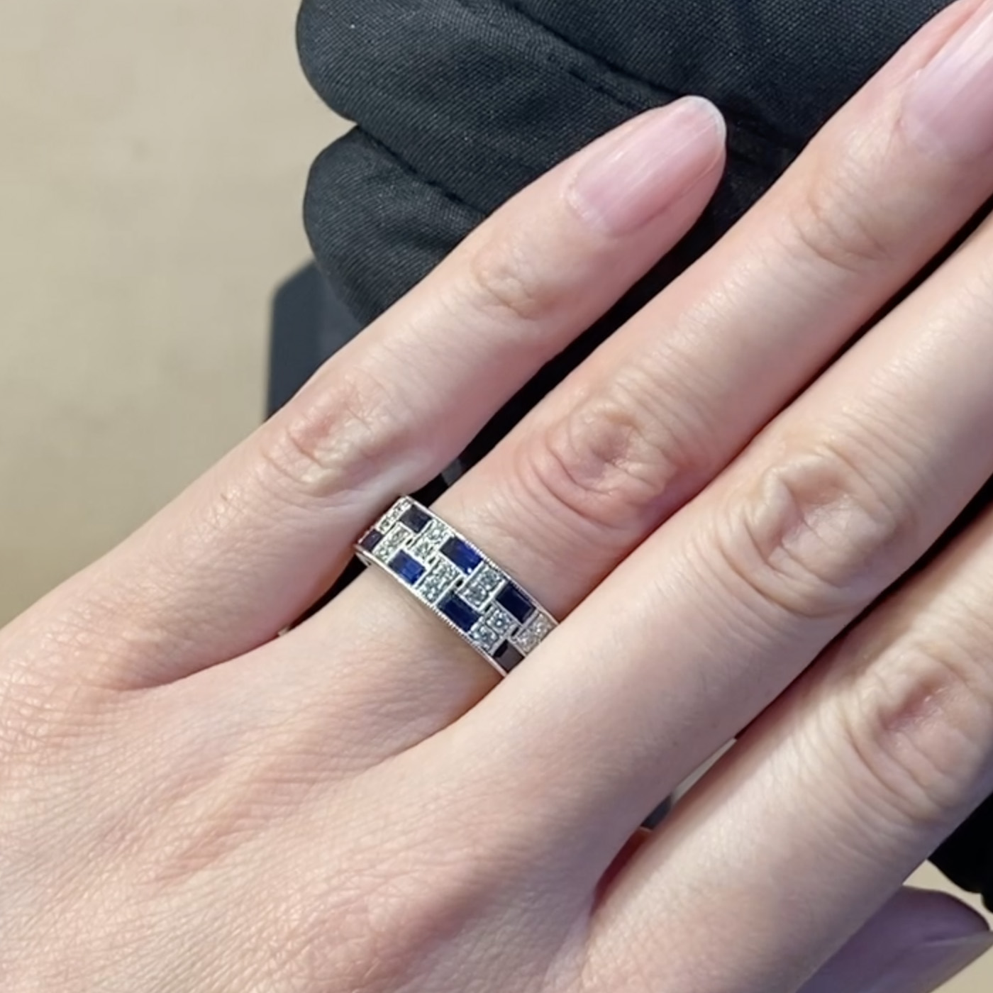 Manhattan Blue Sapphire Ring<br /> 3.33CT in Platinum