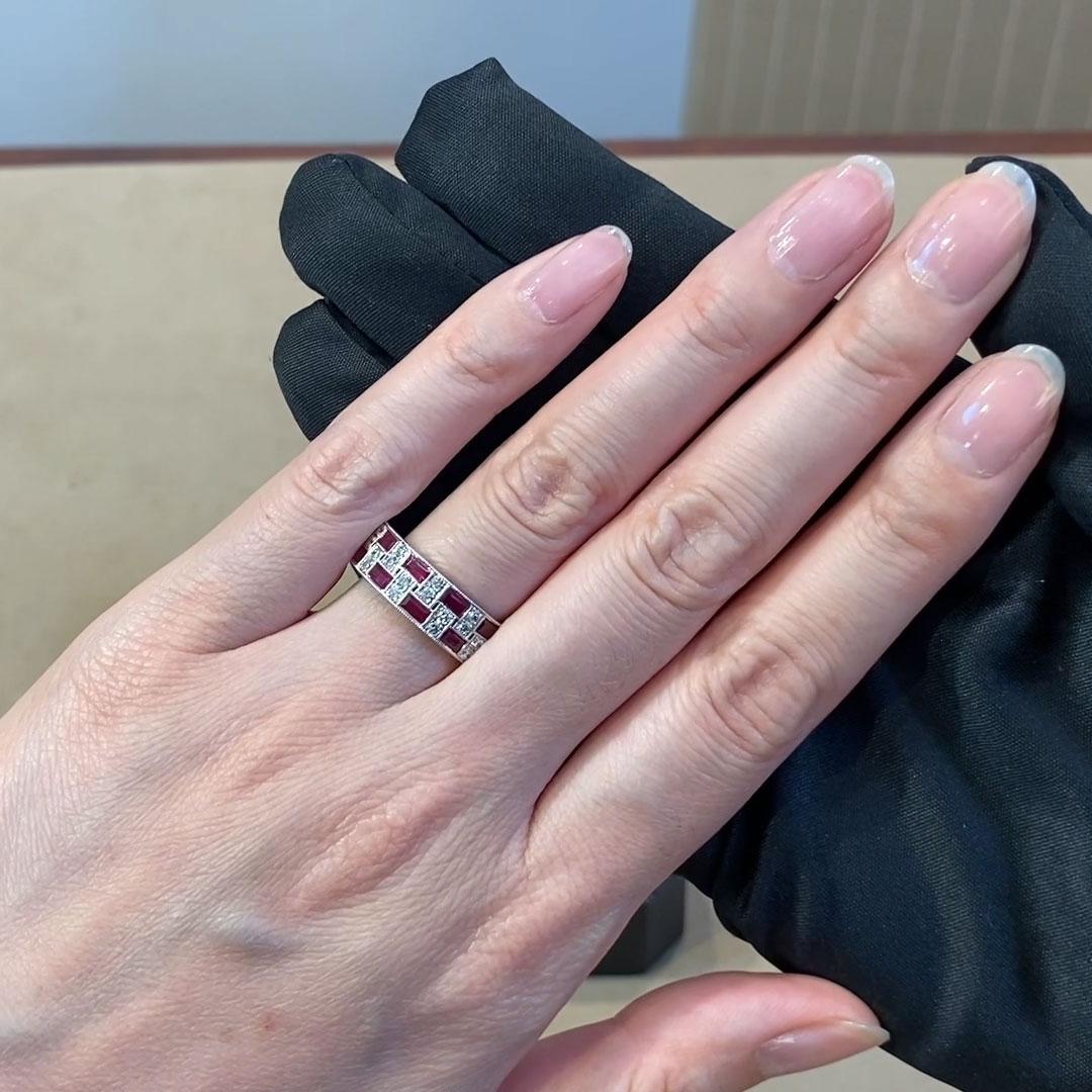 Manhattan Ruby Ring<br /> 4.14CT in Platinum