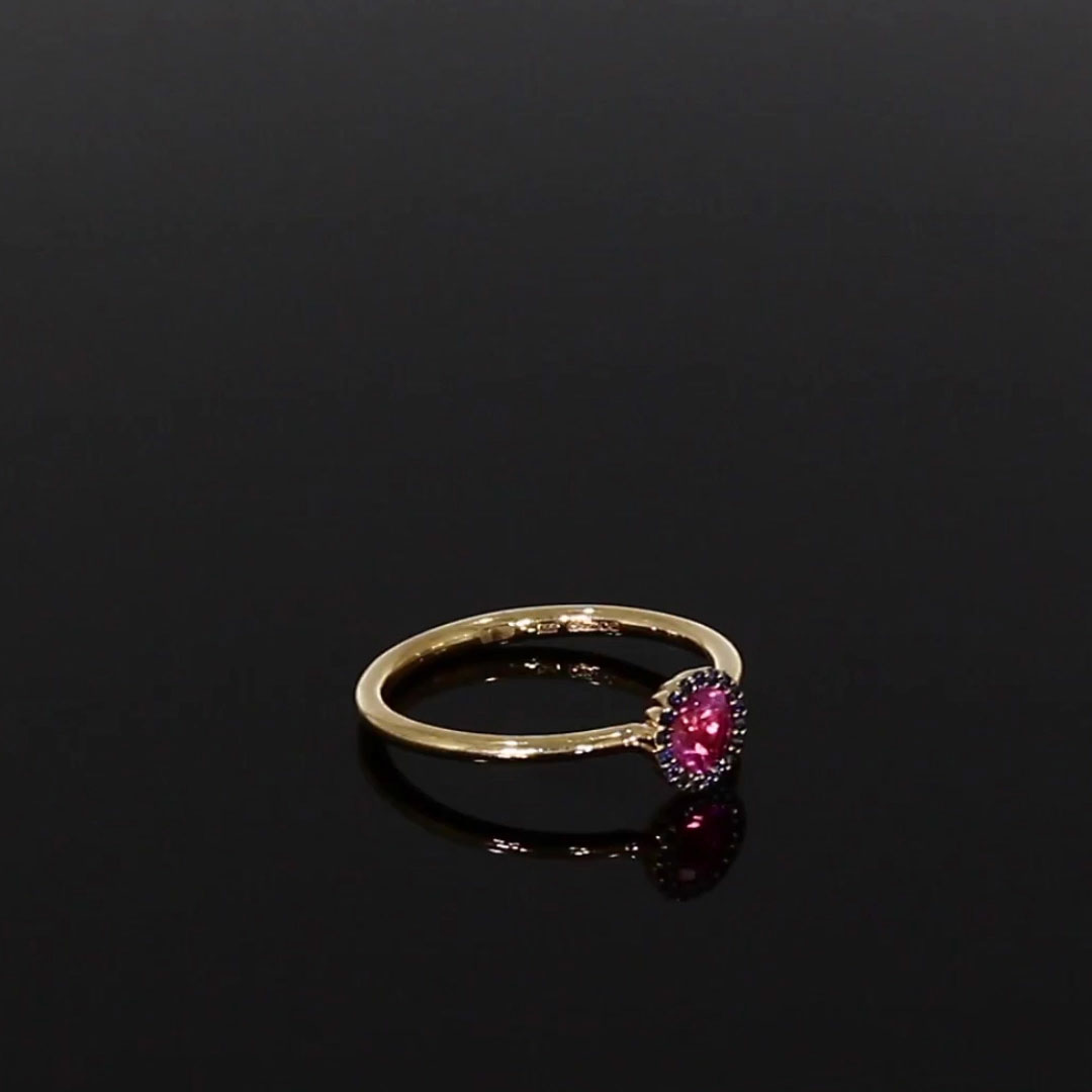 Solstice Pink Tourmaline Ring <br /> 0.43 in Rose Gold
