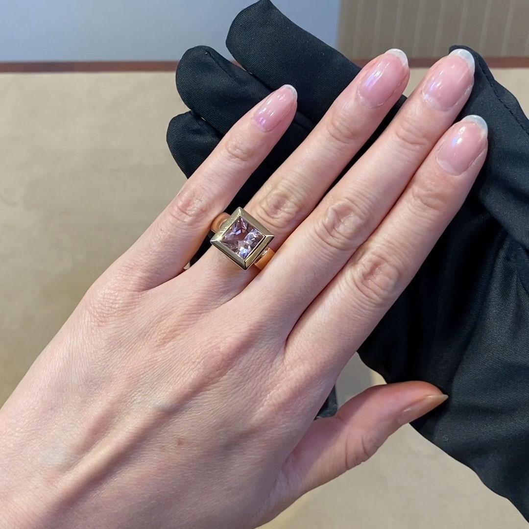 Morganite Ring<br /> 3.07CT in 18CT Rose Gold