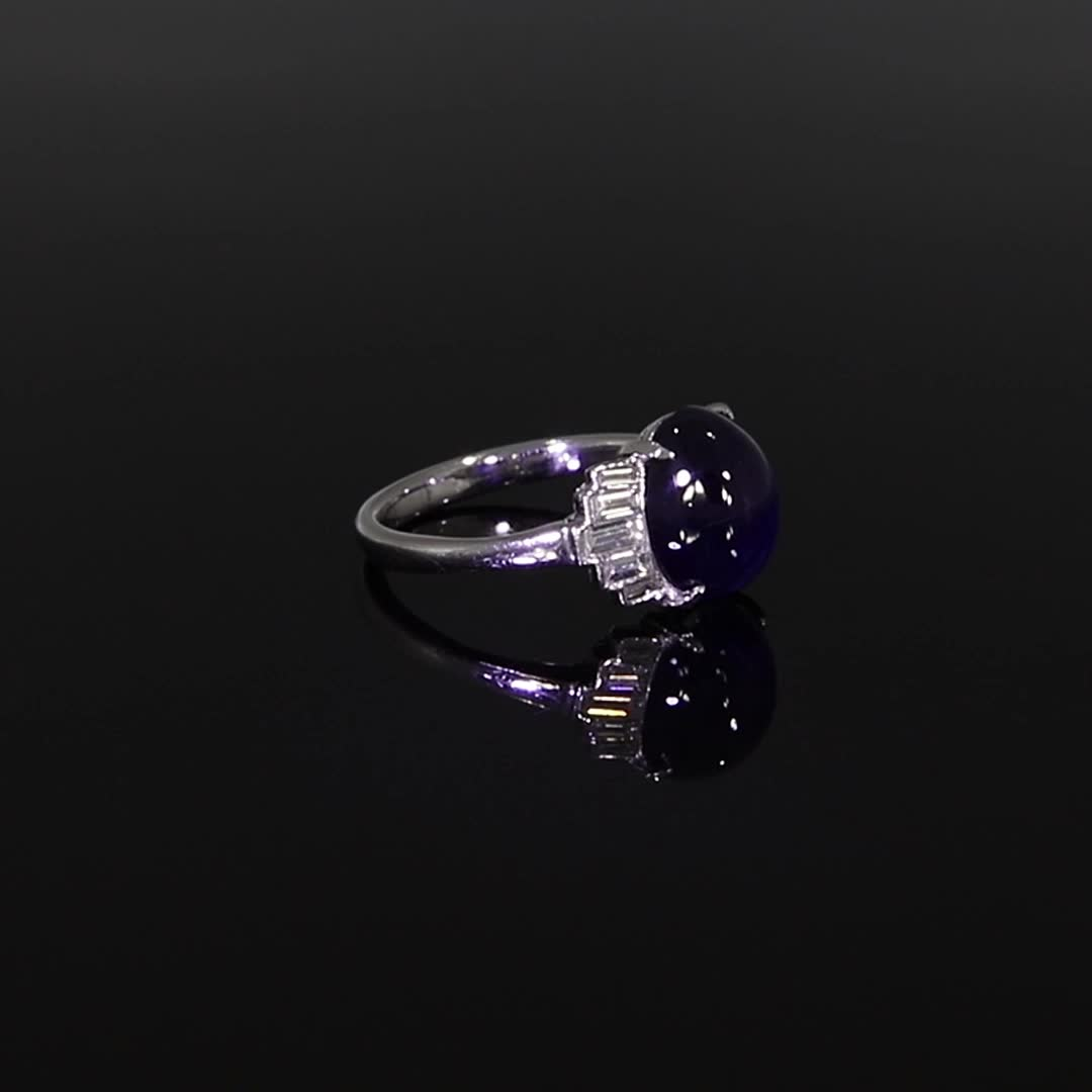 Art Deco Sapphire Ring<br /> 5.03CT in Platinum