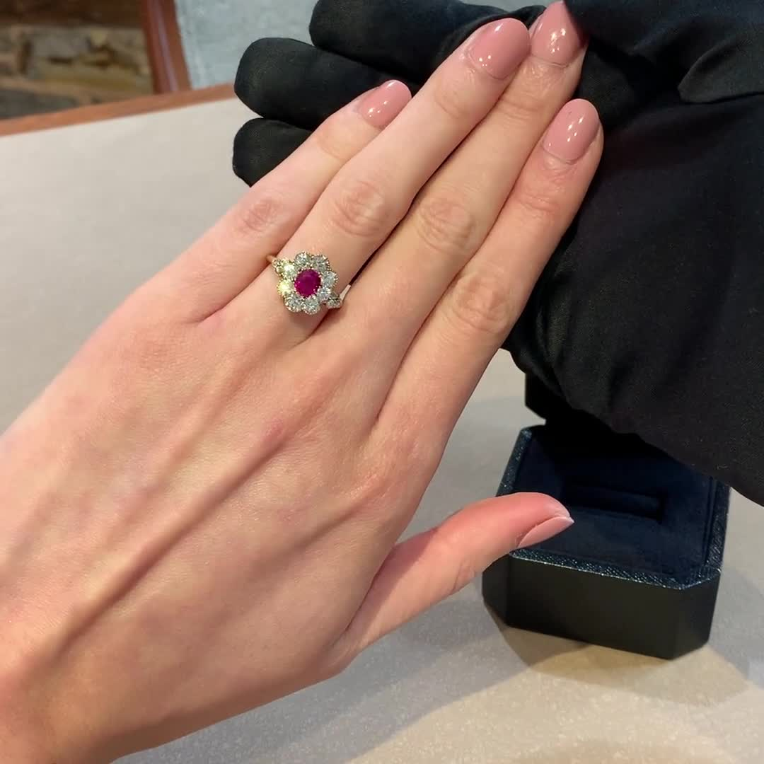 Edwardian Ruby Ring<br /> 1.25CT in Platinum