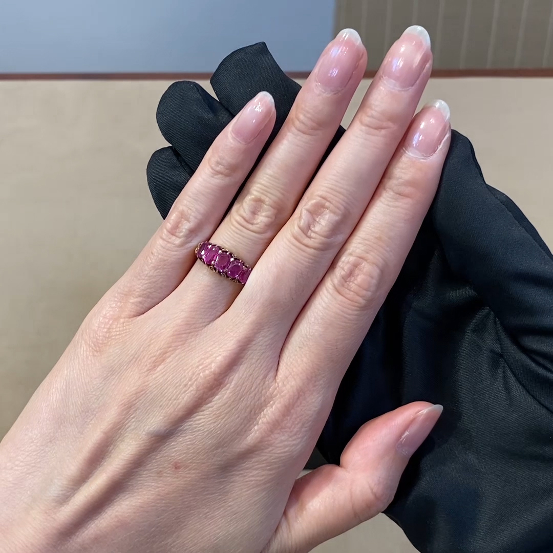 Victorian Ruby Ring <br /> 2.00CT in Yellow Gold