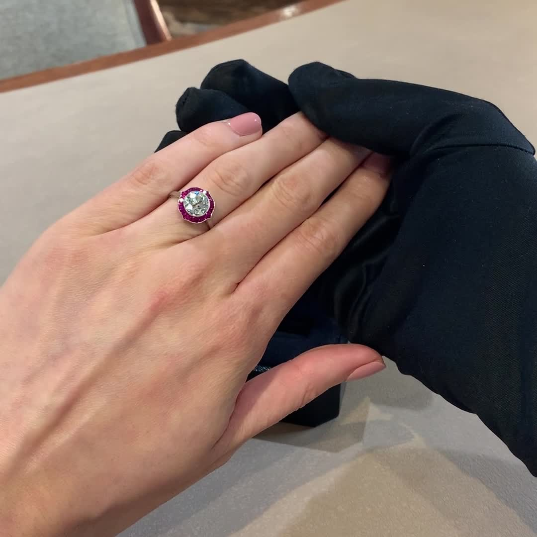 Ruby and Diamond Ring<br /> 2.90CT