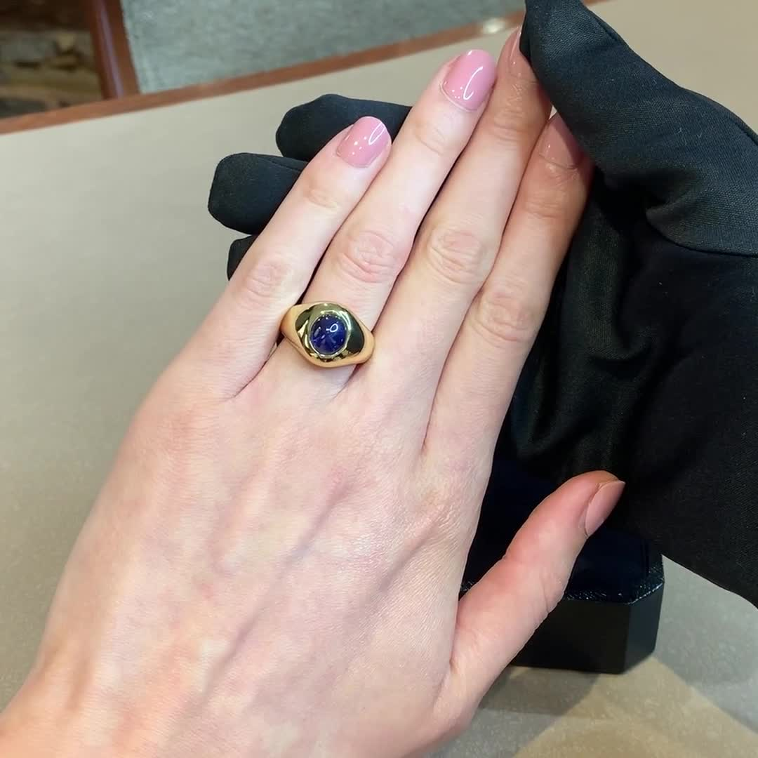 1980s Tiffany and Co. Sapphire Ring
