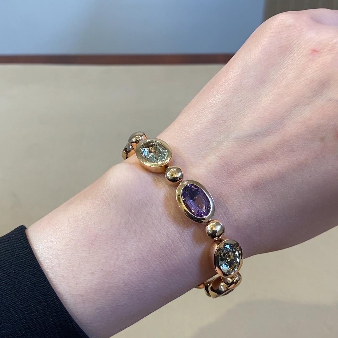 Amethyst Bracelet<br /> 22.84CT in 18CT Rose Gold