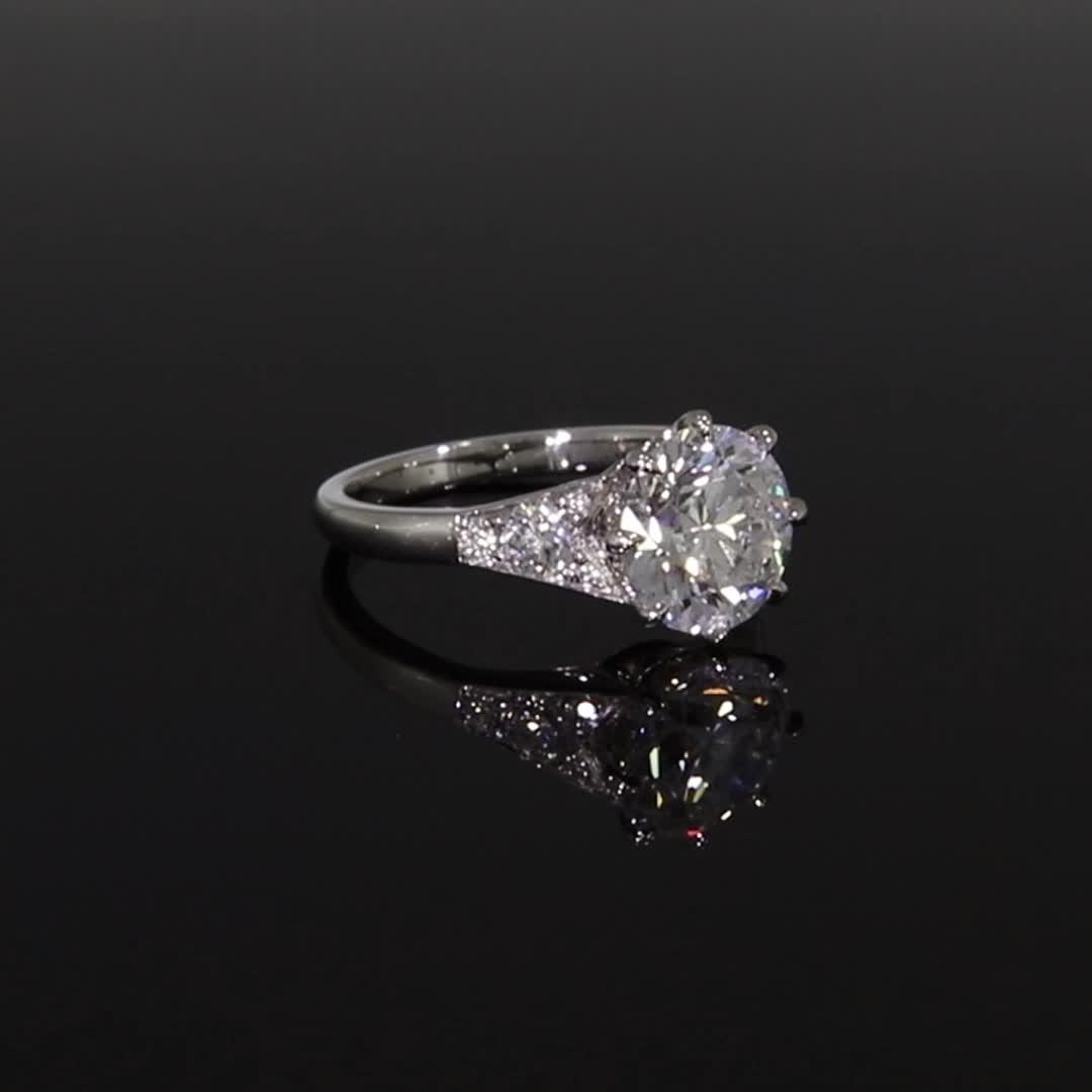 Masterpiece Antrobus Diamond Ring<br /> 3.24CT in Platinum