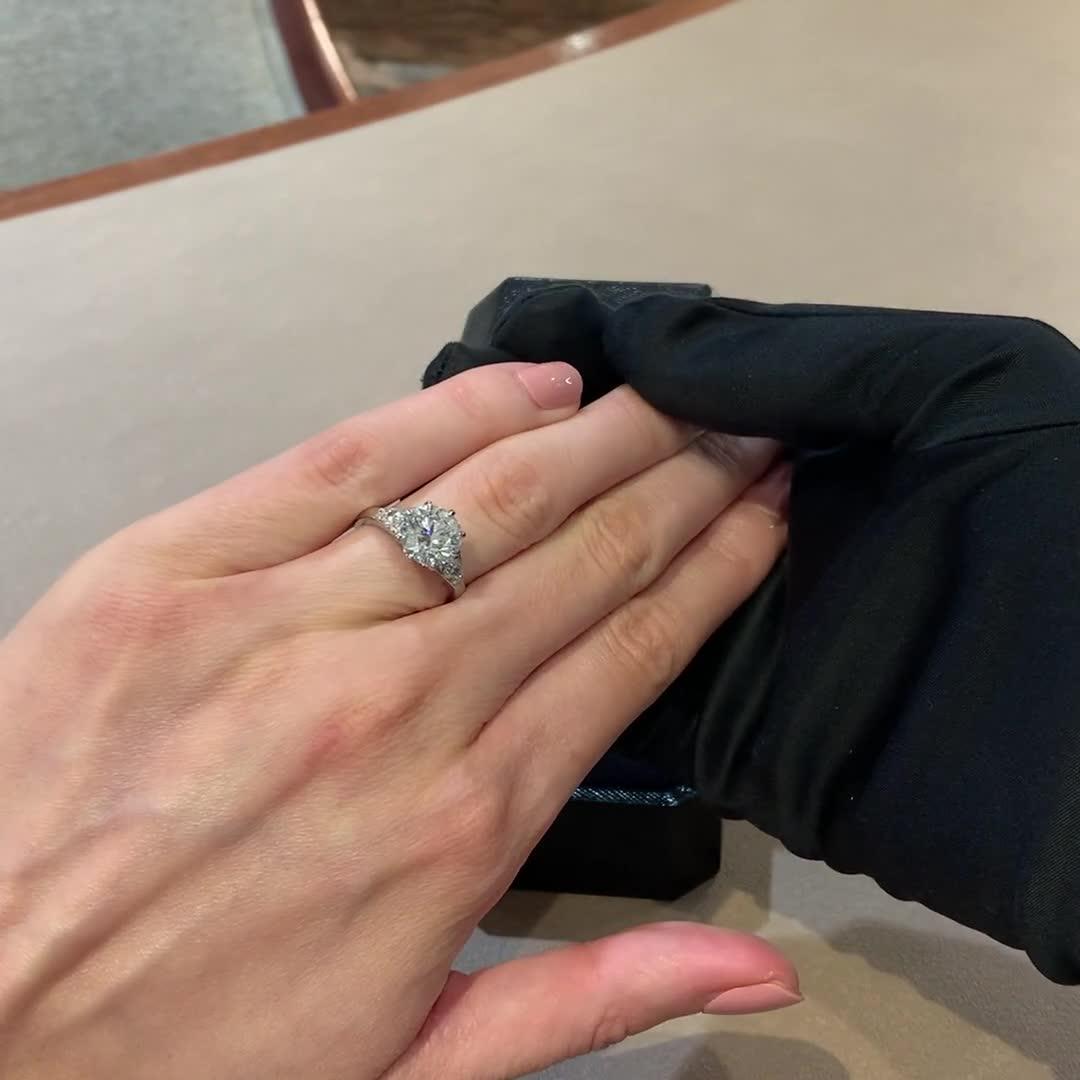 Masterpiece Antrobus Diamond Ring<br /> 3.08CT in Platinum