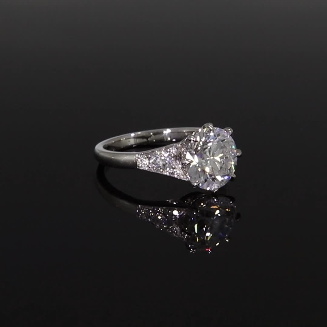 Masterpiece Antrobus Diamond Ring<br /> 3.08CT in Platinum