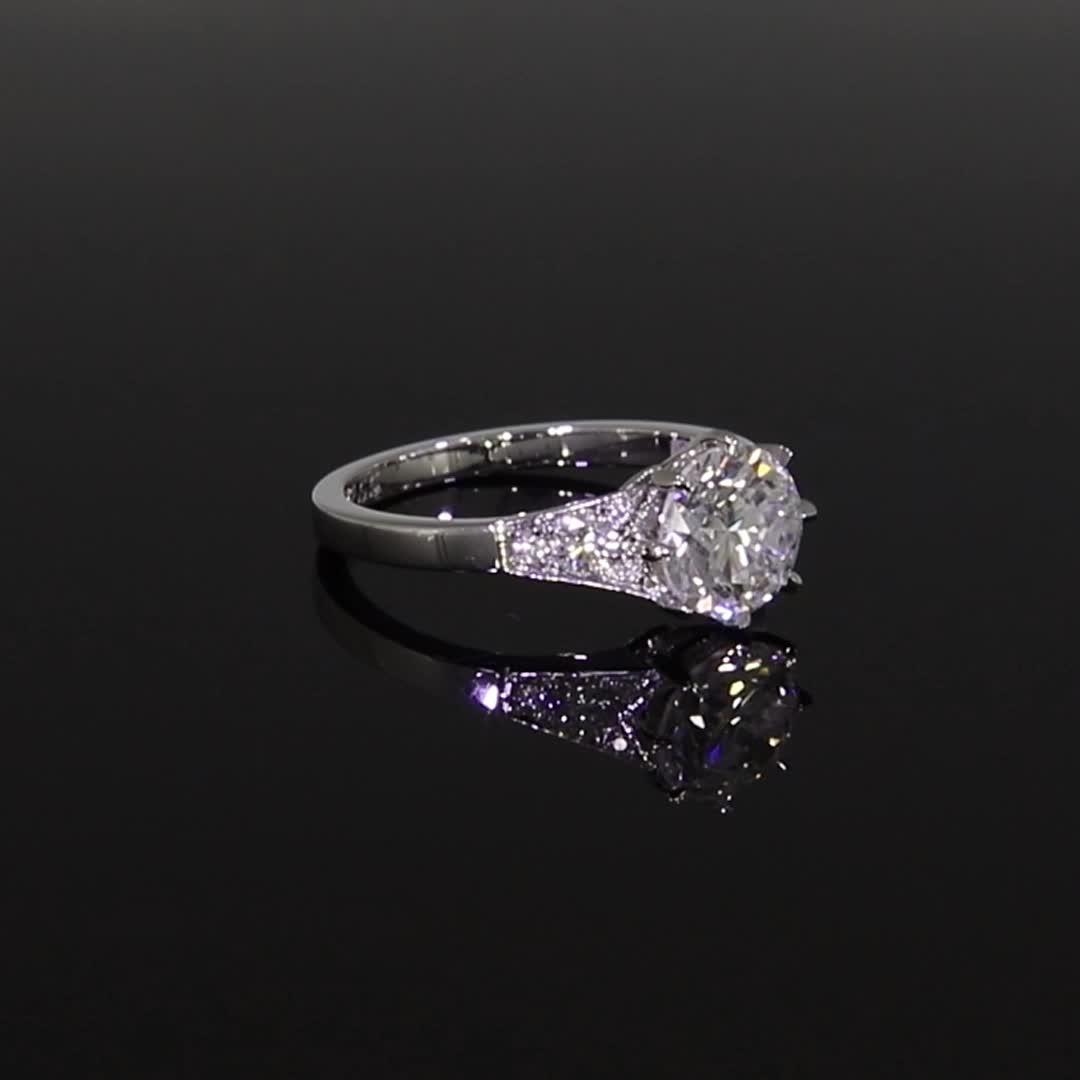 Masterpiece Antrobus Diamond Ring<br /> 2.01CT in Platinum