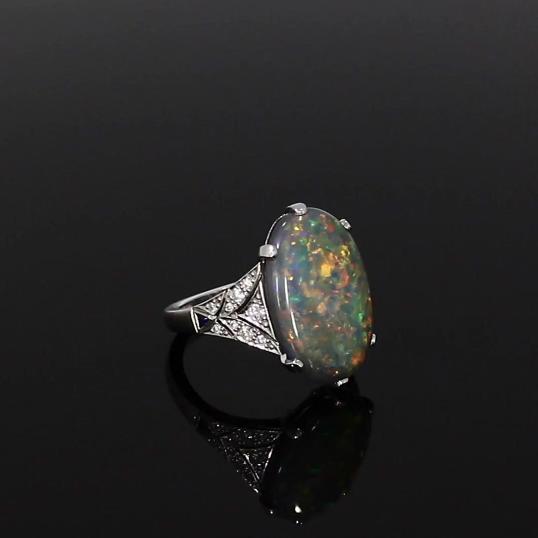 5611099_v501 Cabochon with Diamond Shoulders_501