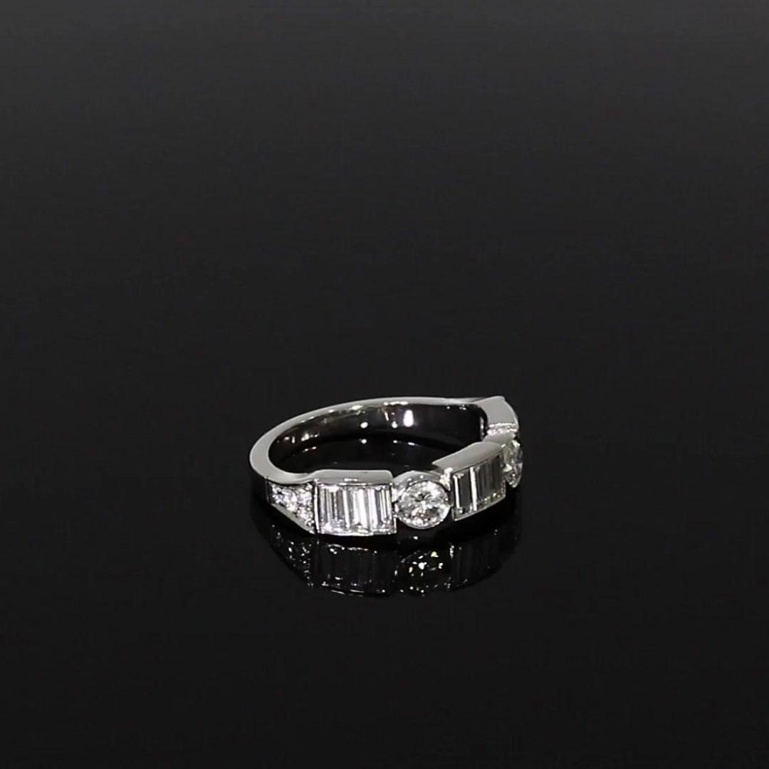 Antrobus Diamond Half Eternity Ring<br /> 0.93CT in Platinum