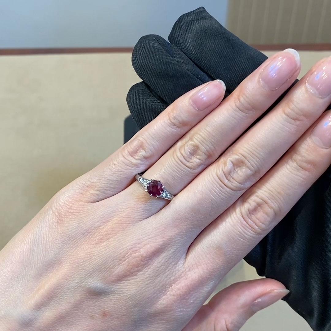Antrobus Ruby Ring<br /> 1.29CT in Platinum
