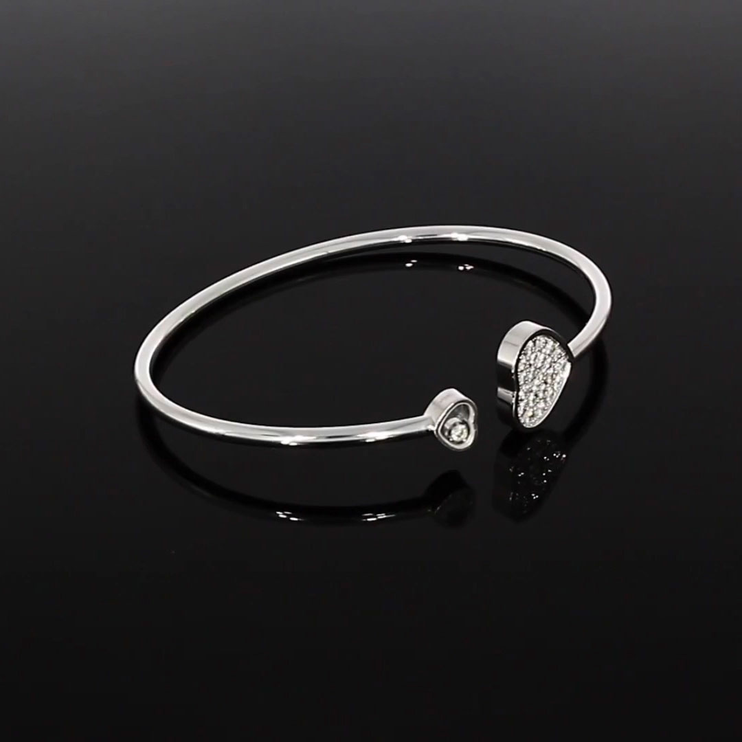 Chopard Happy Hearts Bangle <br /> 0.45CT in White Gold