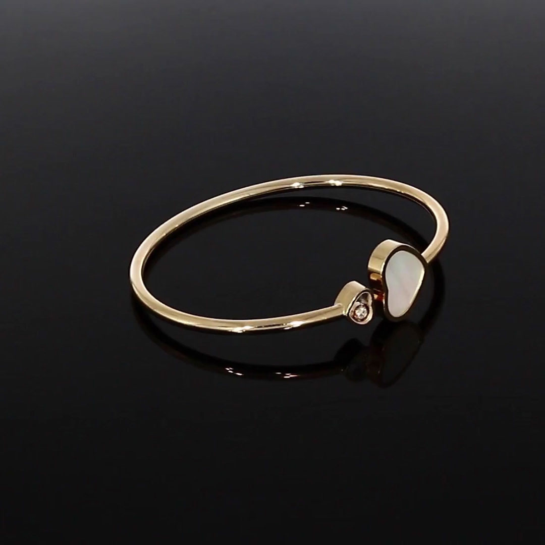 Chopard Happy Hearts Bangle <br /> 0.05CT in Rose Gold