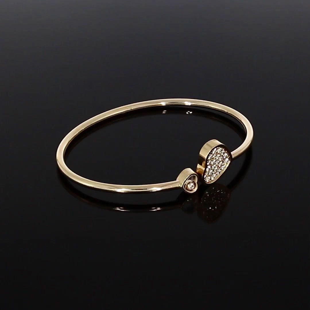 Chopard Happy Hearts Bangle <br /> 0.45CT in Rose Gold