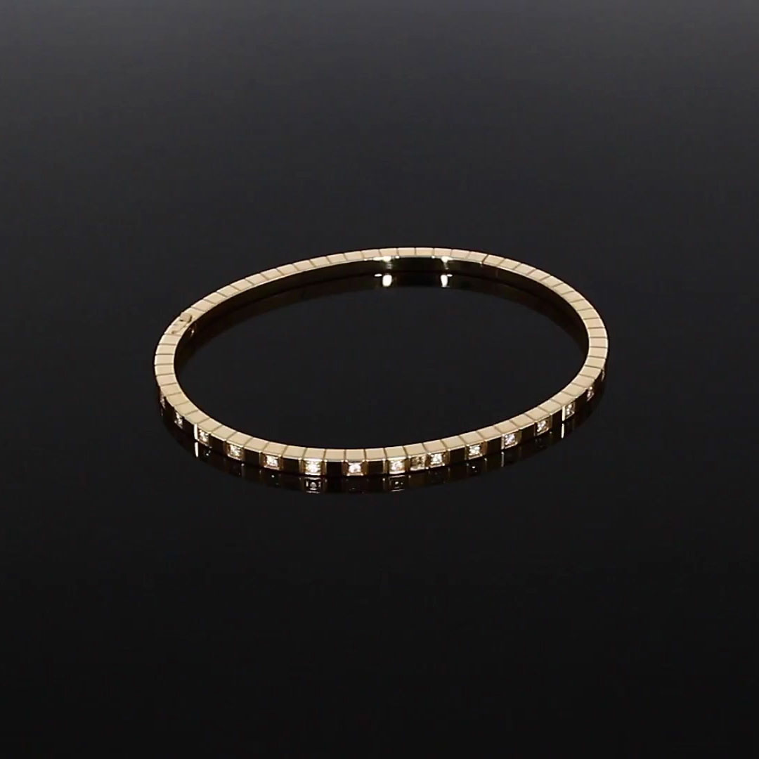 Chopard Ice Cube Diamond set Bangle <br /> 0.33CT in Rose Gold