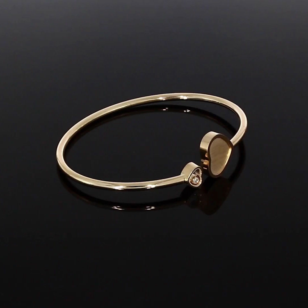 Chopard James Bond 007 Happy Hearts Bangle <br /> 0.05CT in Rose Gold