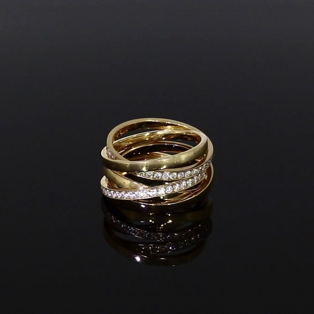 Trilogy Multi-Row Diamond Ring<br /> 1.17CT in 18CT Rose Gold
