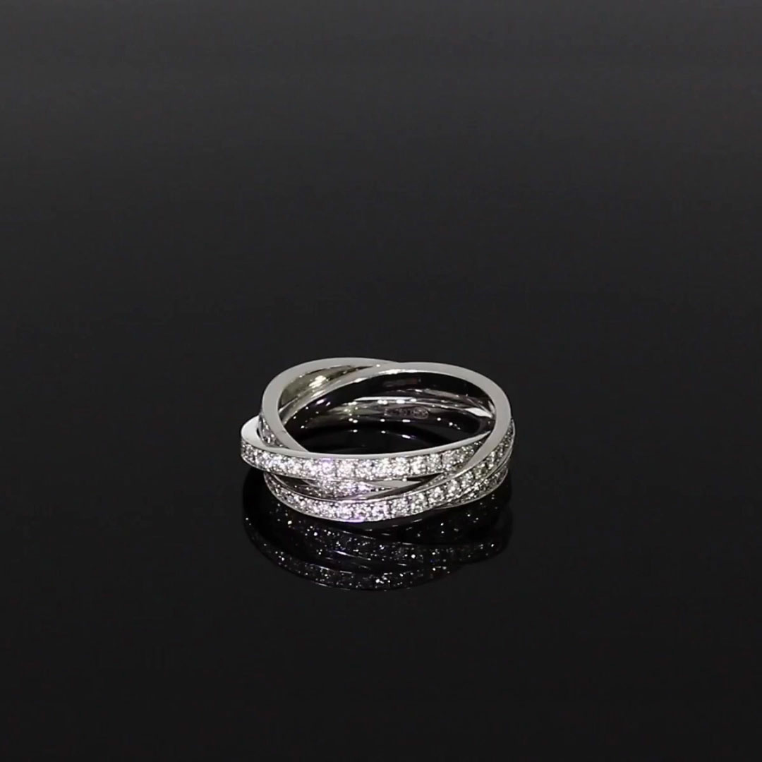 Trilogy Three-Row Diamond Ring<br /> 1.74CT in 18CT White Gold