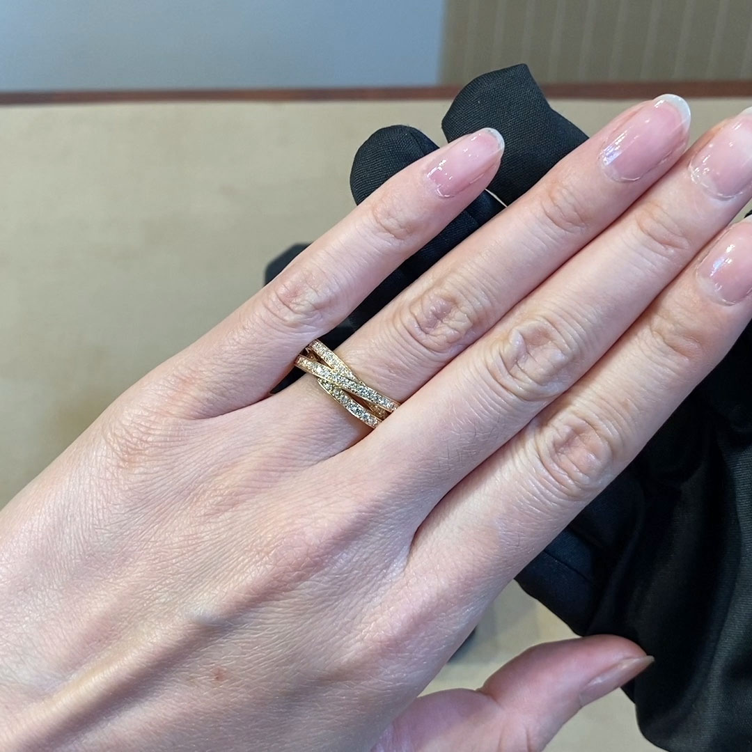 Trilogy Three-Row Diamond Ring<br /> 1.74CT in 18CT Rose Gold
