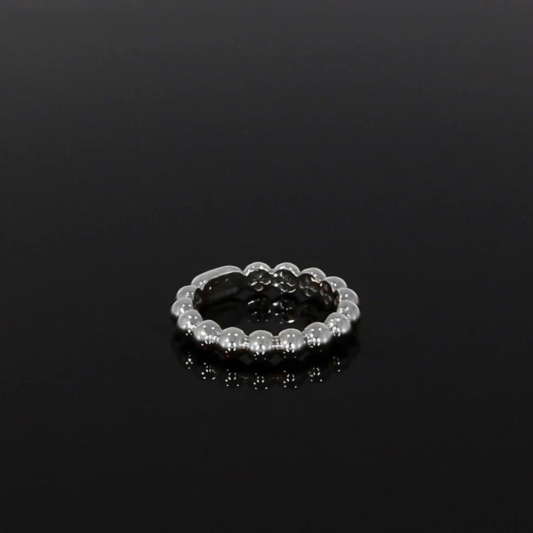 Bohemia Polished Ring<br /> in White Gold