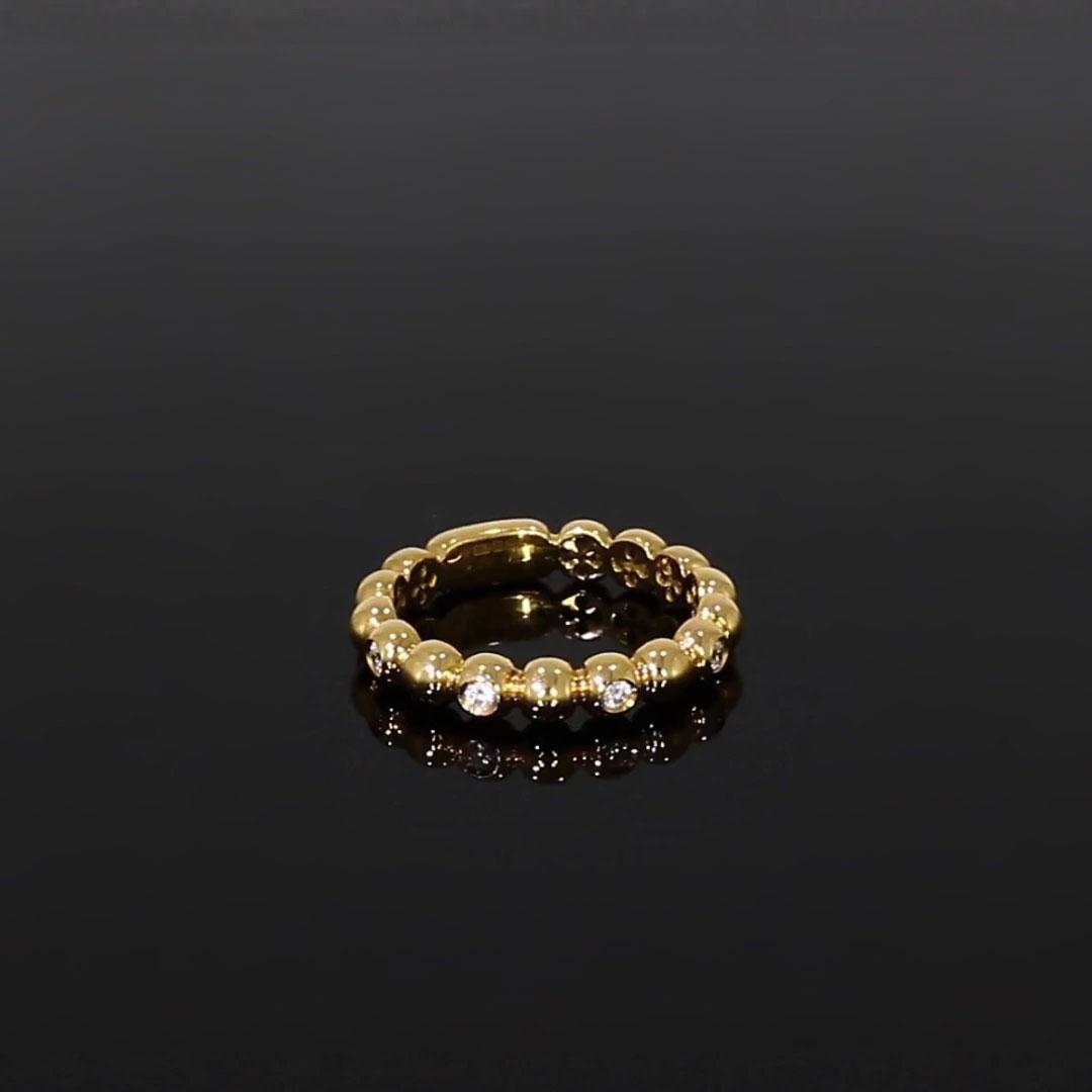 Bohemia Diamond Ring<br /> 0.13CT in Yellow Gold