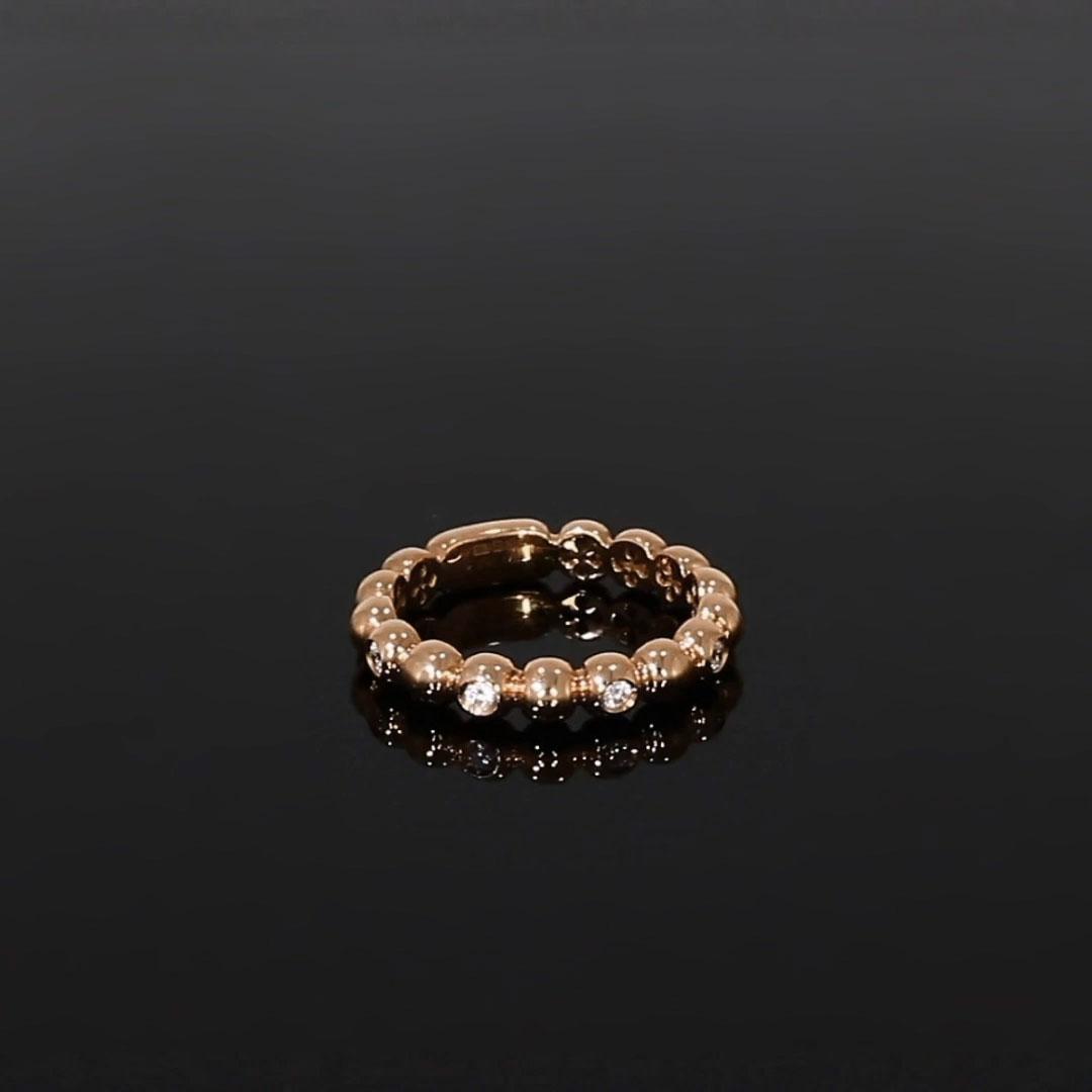 Bohemia Diamond Ring<br /> 0.13CT in Rose Gold