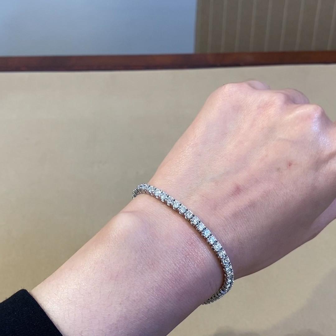 Brilliant Cut Diamond Line Bracelet<br /> 6.83CT in Platinum