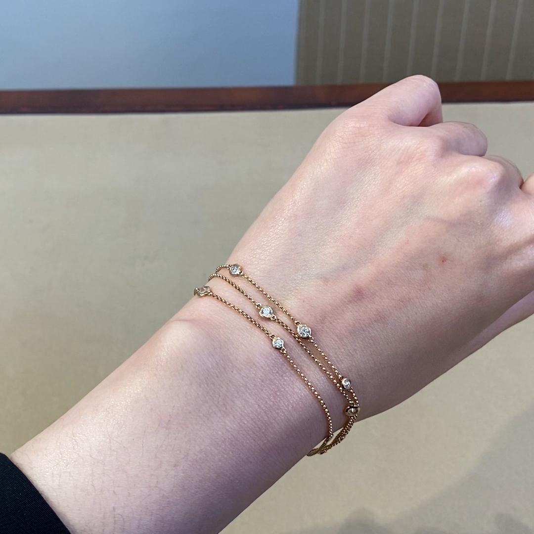 Sundance Three-Row Diamond Bracelet<br /> 0.81CT in 18CT Rose Gold
