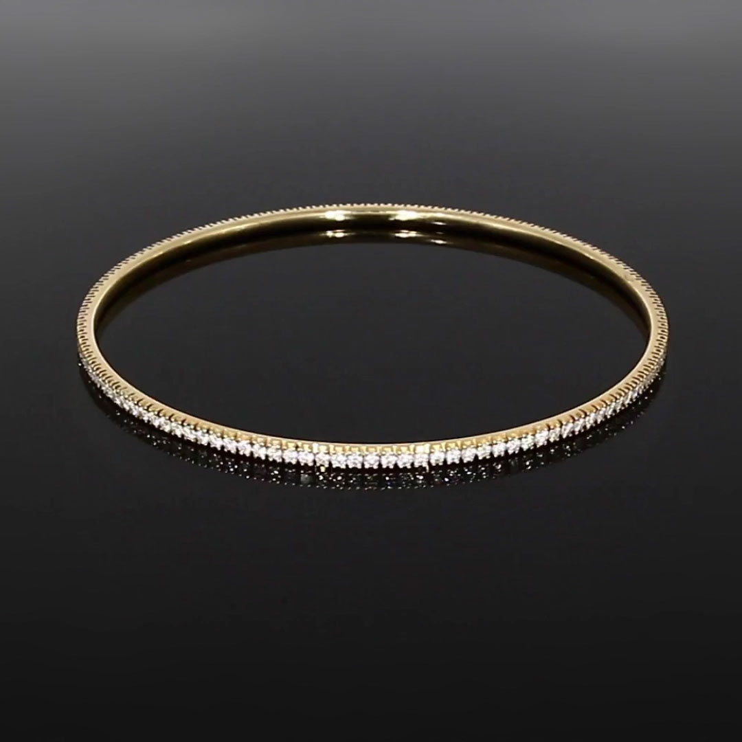 Diamond Eternity Bangle<br /> 2.15CT in 18CT Rose Gold