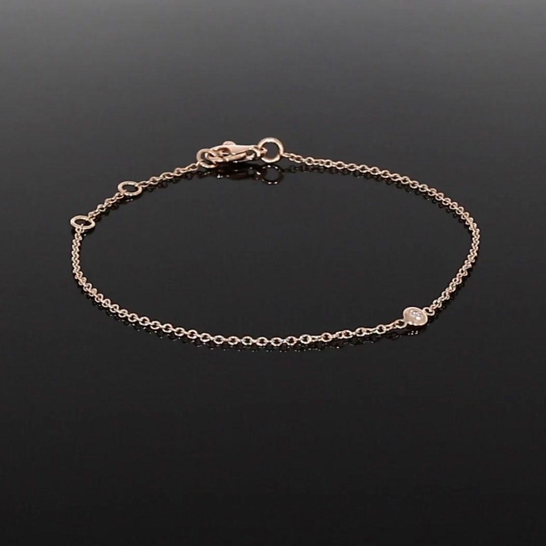 Sundance Diamond Bracelet<br /> 0.07CT in 18CT Rose Gold