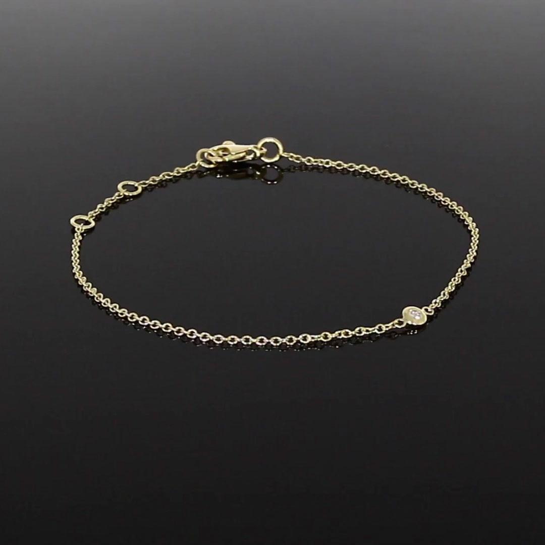 Sundance Diamond Bracelet<br /> 0.07CT in 18CT Yellow Gold