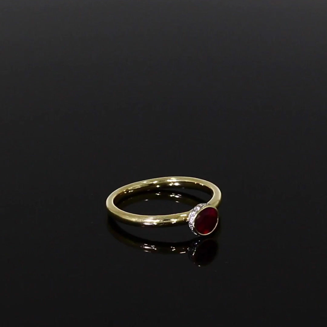 Sundance Ruby Ring<br /> 0.54CT in 18CT Yellow Gold