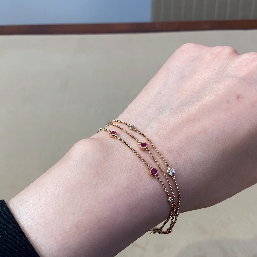 Sundance Ruby and Diamond Bracelet<br /> 0.59CT in 18CT Rose Gold