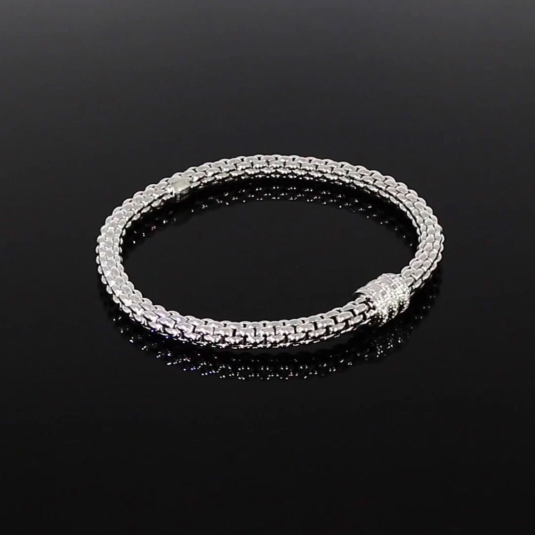 Fope Solo Diamond Bracelet<br /> 0.30CT in 18CT White Gold