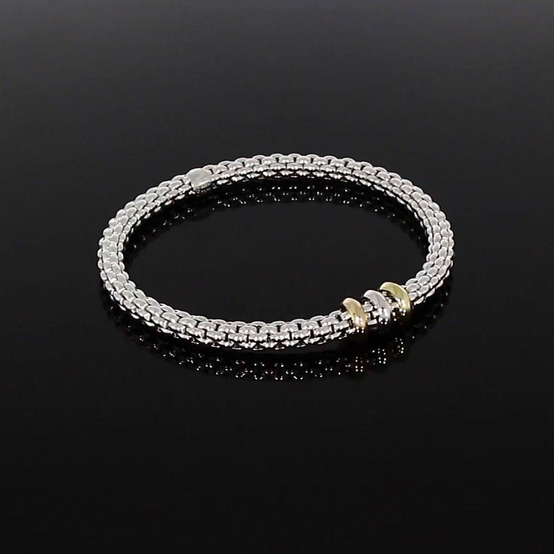 Fope Flex'it Bracelet<br /> in 18CT White Gold
