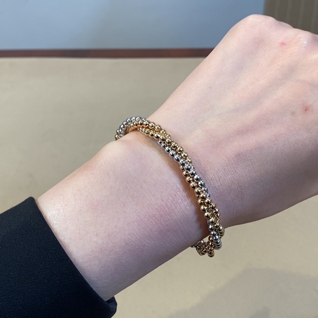 Bohemia Three-Row Bracelet<br /> in 18CT Yellow, White and Rose Gold