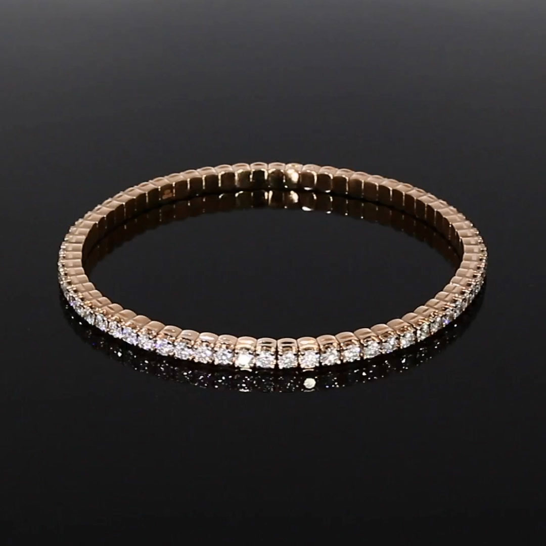 Expandable Diamond Bangle <br /> 4.21ct in Rose Gold