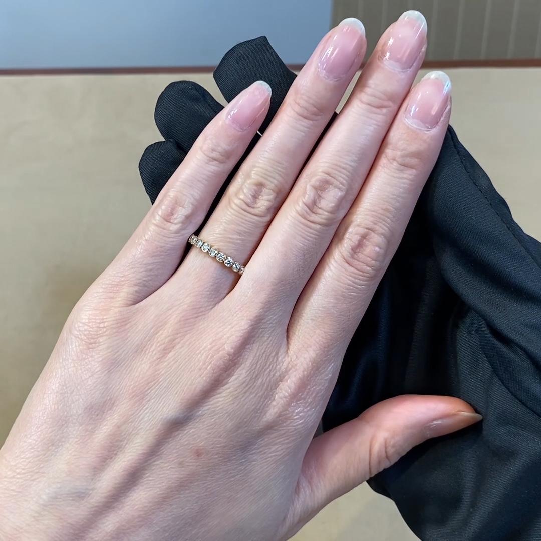 Diamond Dot Half Eternity Ring<br /> 0.44CT in 18CT Yellow Gold