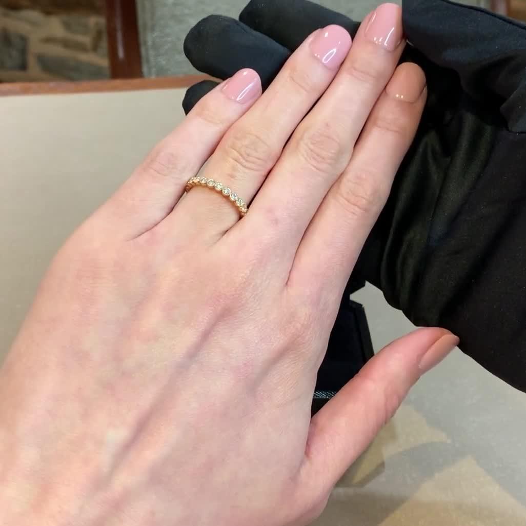 Diamond Dot Half Eternity Ring<br /> 0.44CT in 18CT Rose Gold