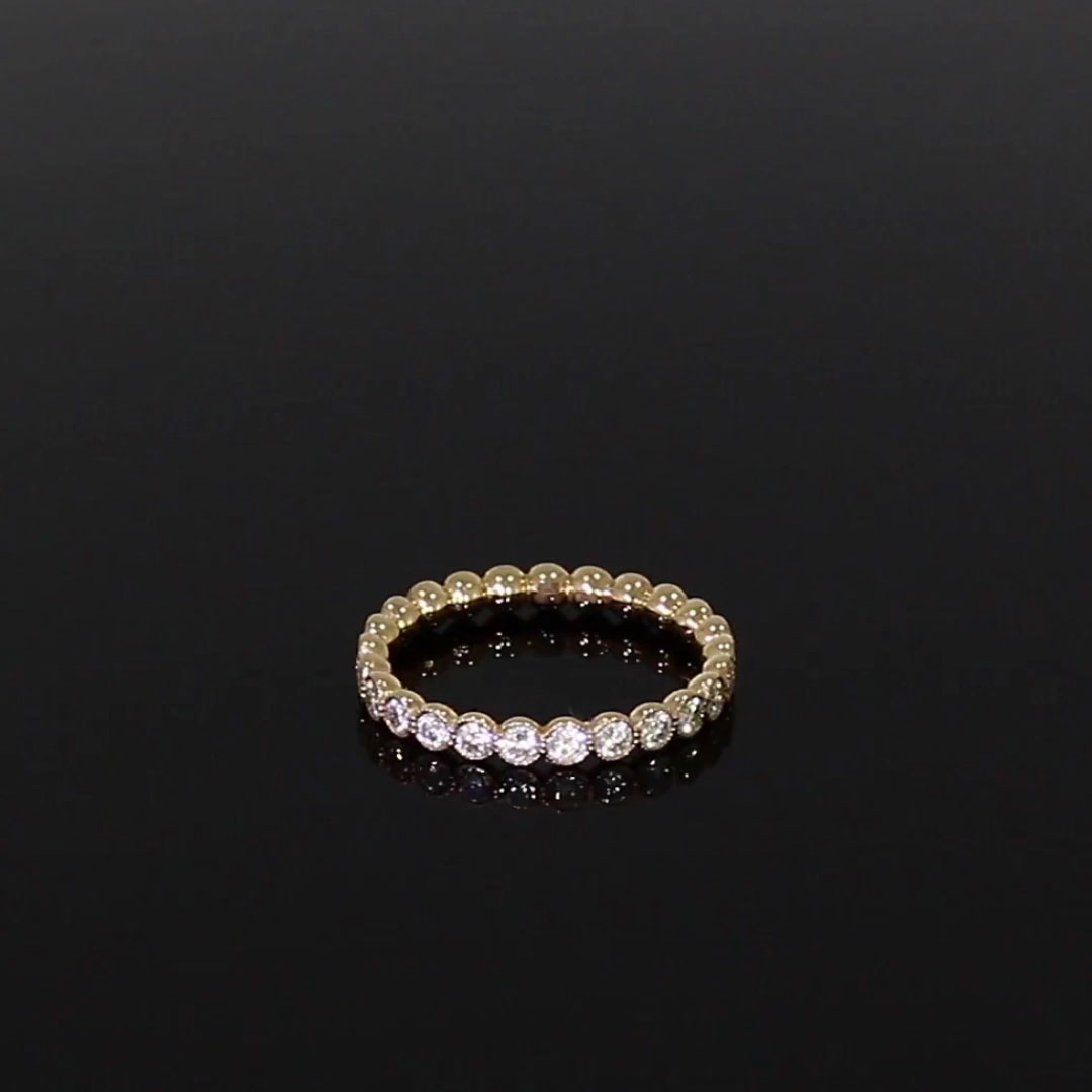 Diamond Dot Eternity Ring<br /> 0.99CT in 18CT Rose Gold