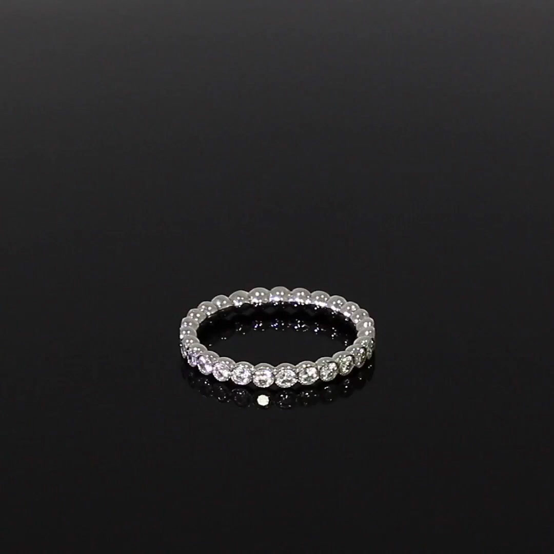 Diamond Dot Eternity Ring<br /> 0.98CT in Platinum