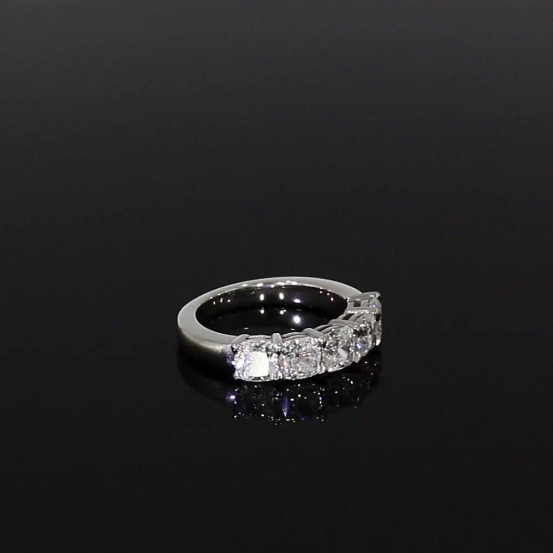 Cushion Cut Diamond Five-Stone Ring<br /> 3.06CT in Platinum
